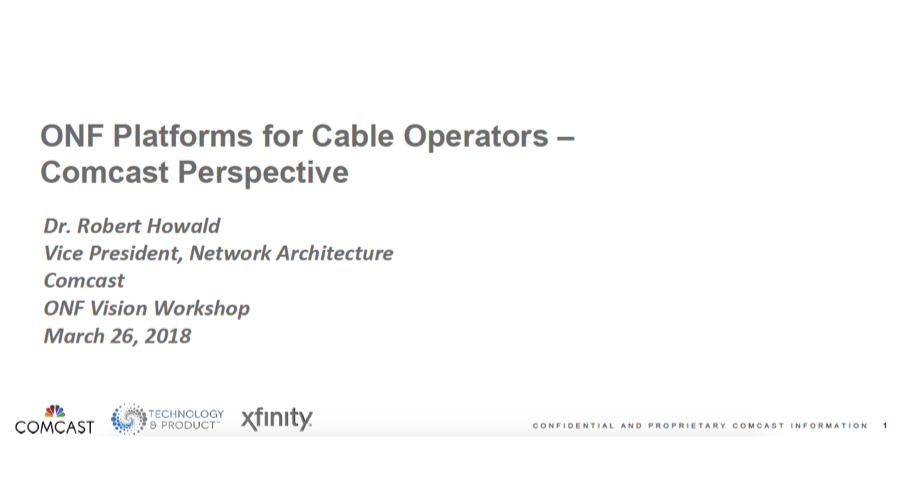 Comcast - Open Networking Foundation